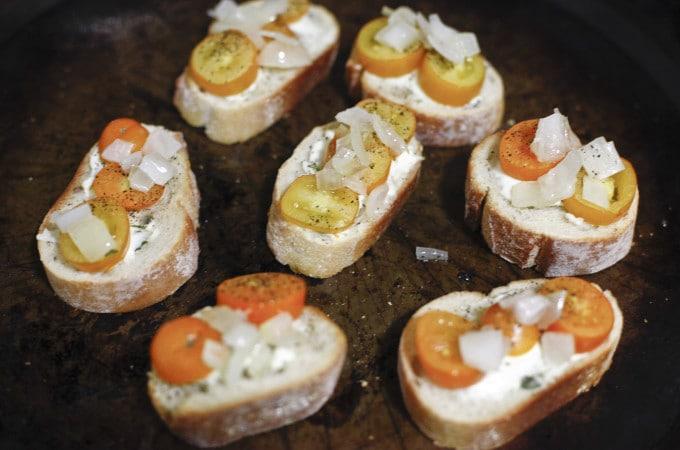 crostini, tomato crostini, tomato, basil, bread, sweets, sweet, dessert, food, foodie, foodist, blog, food blog, blogger, the brooklyn cook, brooklyn, cook, cooking, bake, baking, baker, recipe, recipes,