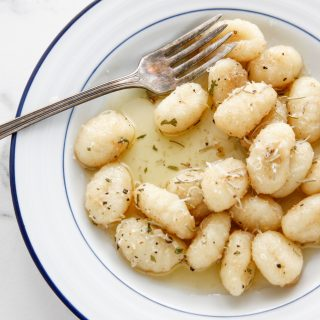 Gnocchi with Rosemary Butter Sauce