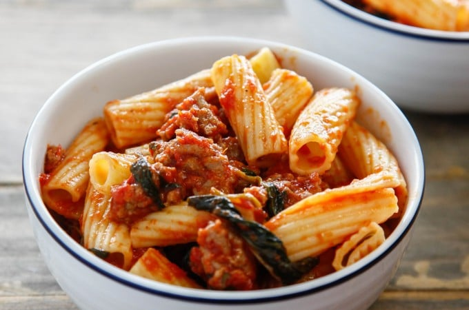One Pan Sausage Rigatoni