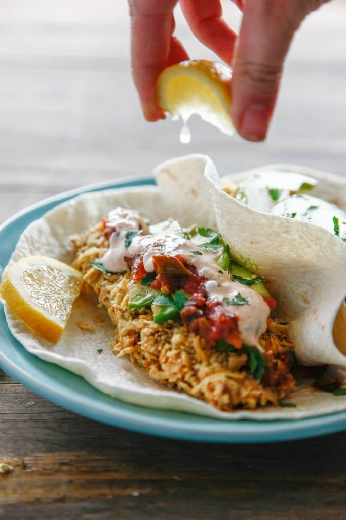 Tortilla Crusted Fish Tacos