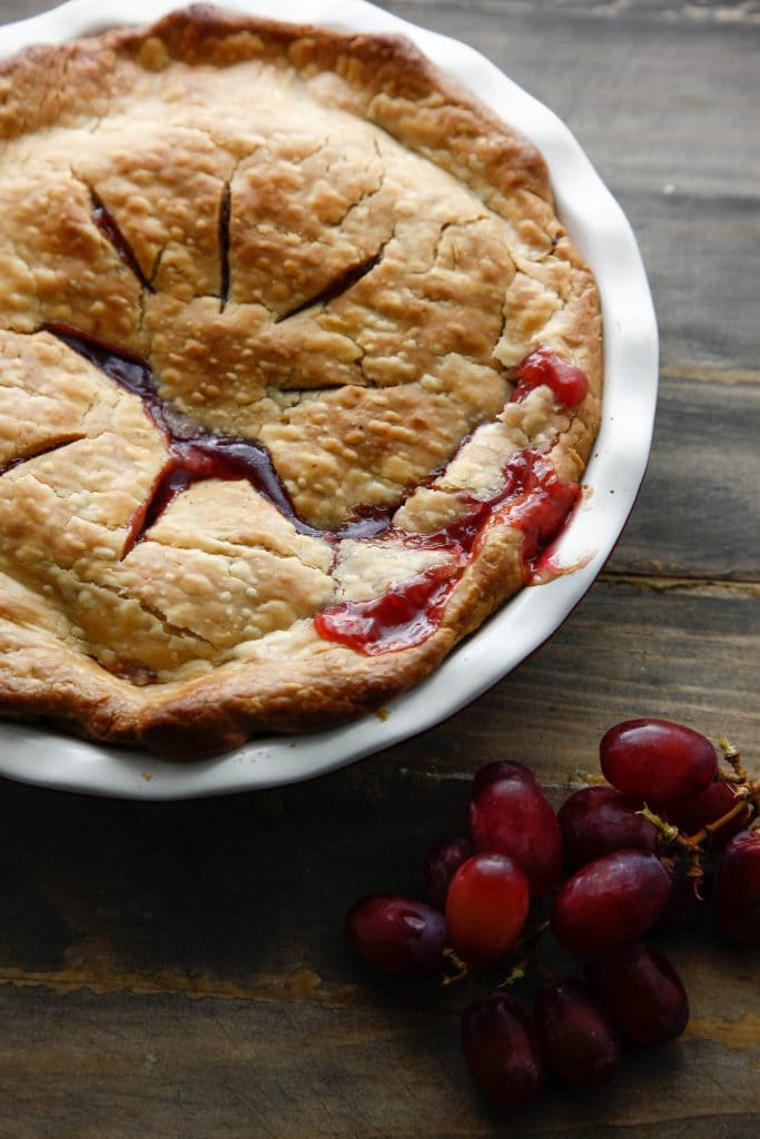 Ruby Red Grape Pie