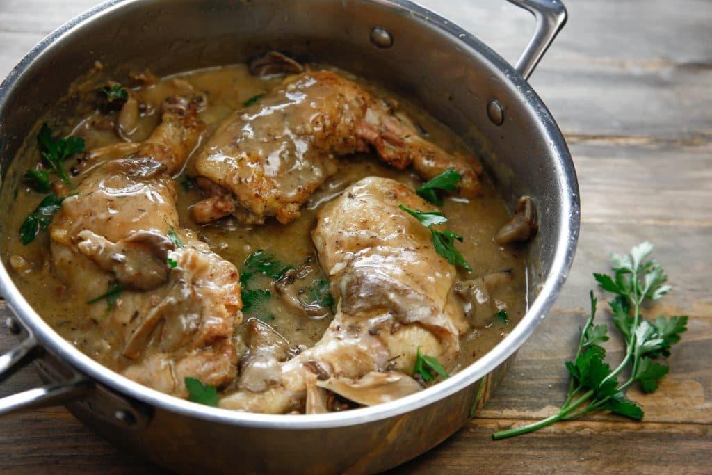 One Pan Creamy Mushroom Chicken