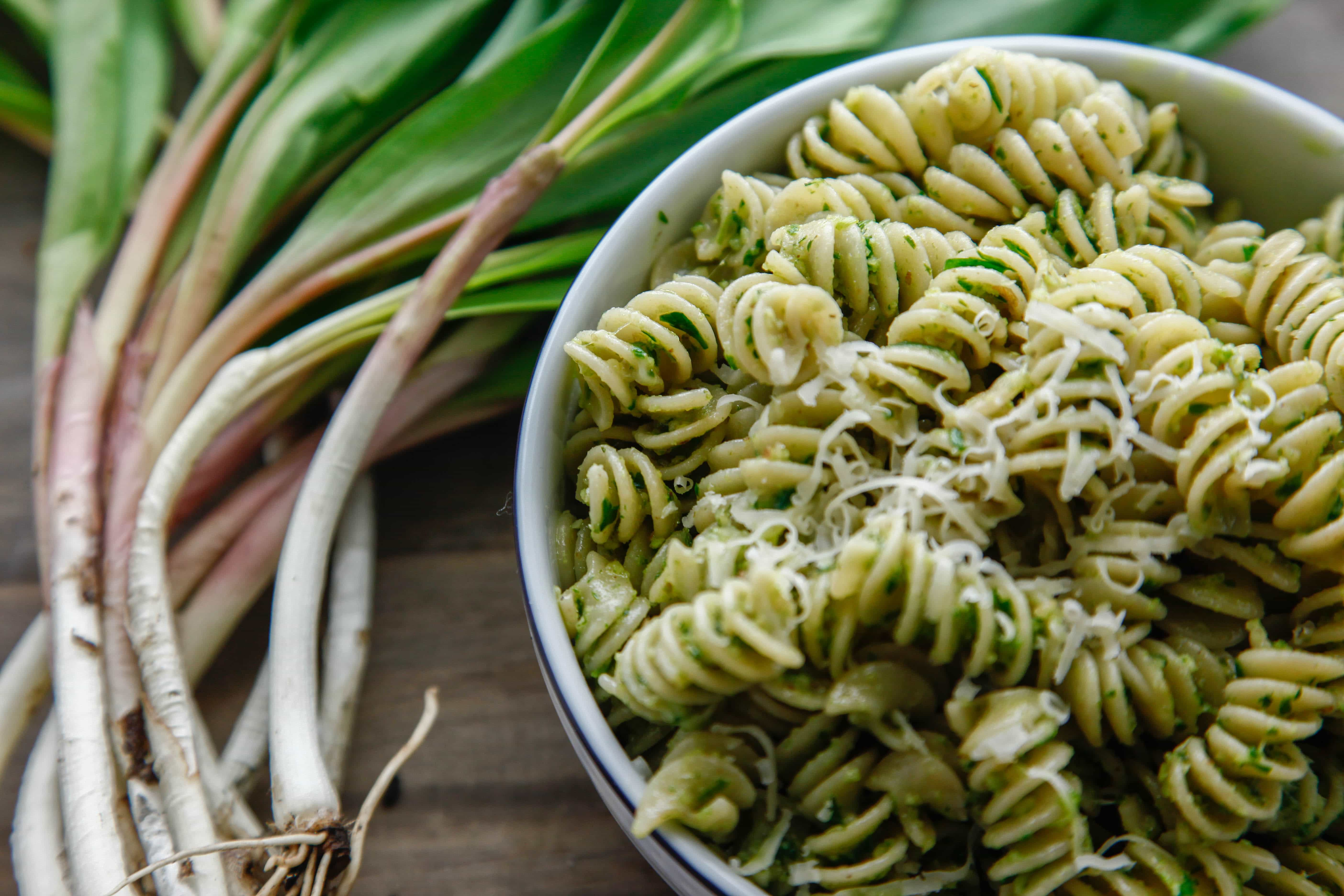 Rotini with Ramp Pesto - The Brooklyn Cook
