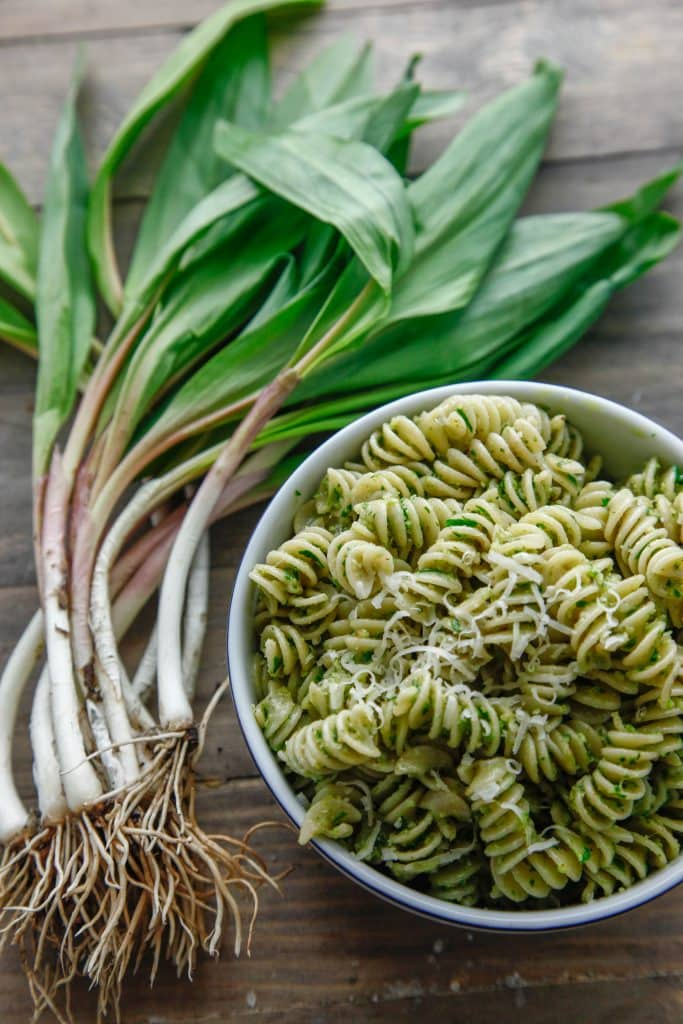 Rotini with Ramp Pesto