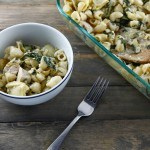 Spinach Artichoke Chicken Pasta Bake