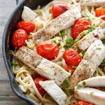 One-Pan Spicy Chicken Alfredo with Burst Tomatoes