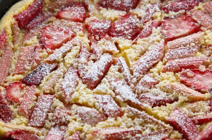 Strawberry Rhubarb Clafoutis