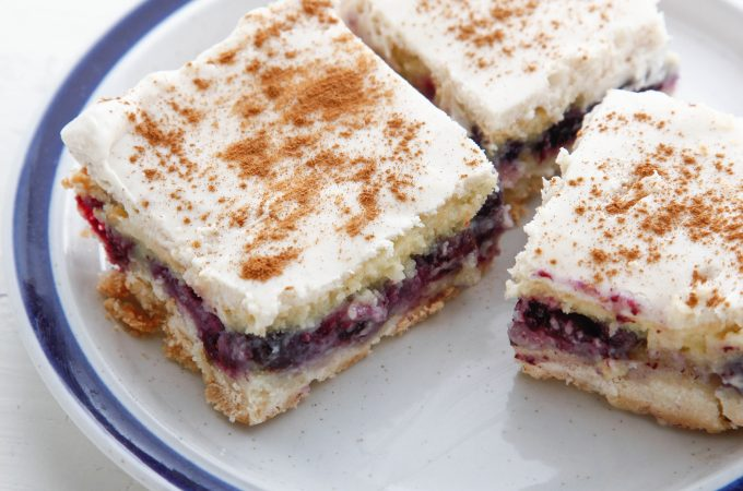 Cinnamon Blueberry Custard Bars