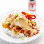Spicy Fiesta Chicken with Queso Sauce