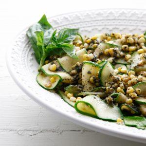 Zucchini Ribbons with Basil Pesto