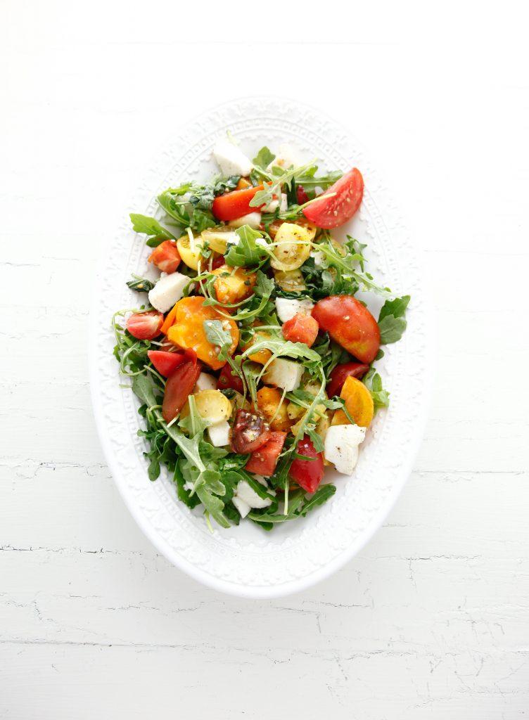 Heirloom Tomato Arugula Salad with Fresh Mozzarella_-2