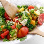 Heirloom Tomato Arugula Salad with Fresh Mozzarella