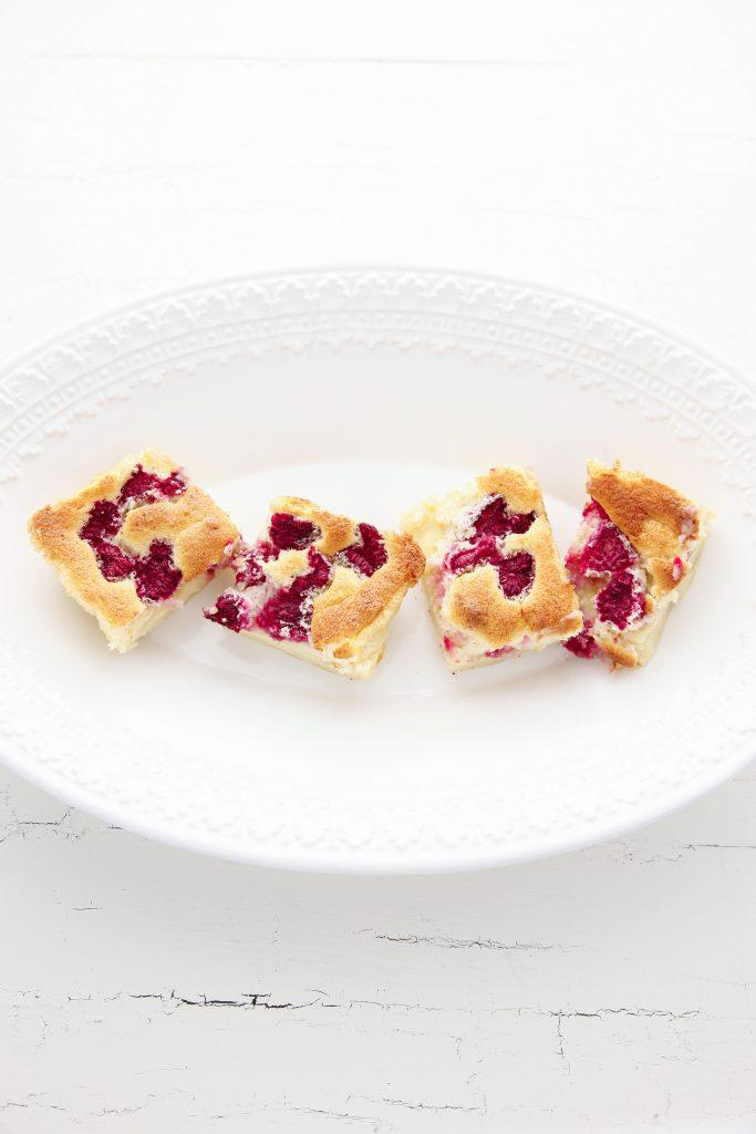 Raspberry Vanilla Bean Magic Custard Cake-4