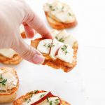 pear and camembert crostini