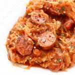 Spicy Kielbasa and Spaghetti Squash
