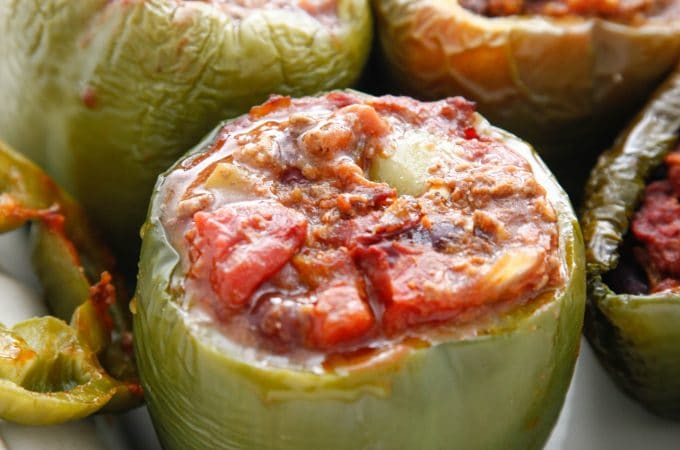Tex Mex Chili Stuffed Peppers