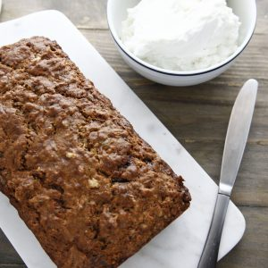 Zucchini Walnut Bread with Vanilla Labne Spread