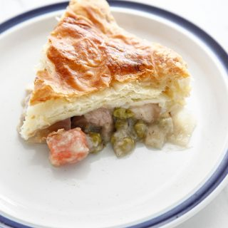 Leftover Turkey Puff Pastry Pot Pie