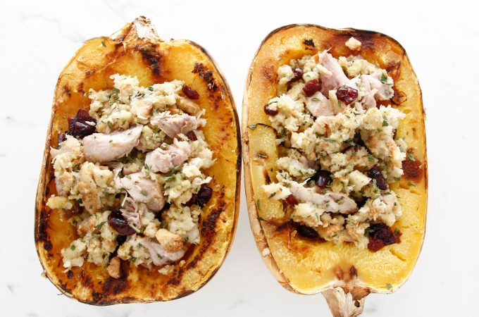 Thanksgiving Stuffed Spaghetti Squash