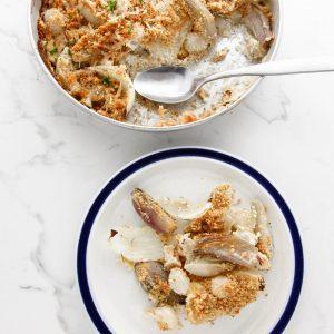 creamy onions au gratin