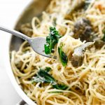 buttery artichoke and kale pasta