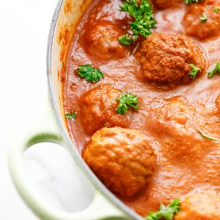 dutch oven curried meatballs