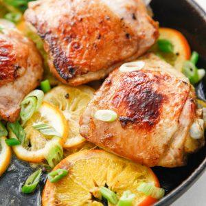 Skillet Citrus Marinated Chicken