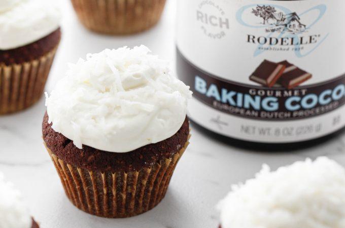 Coconut Cream Chocolate Cupcakes
