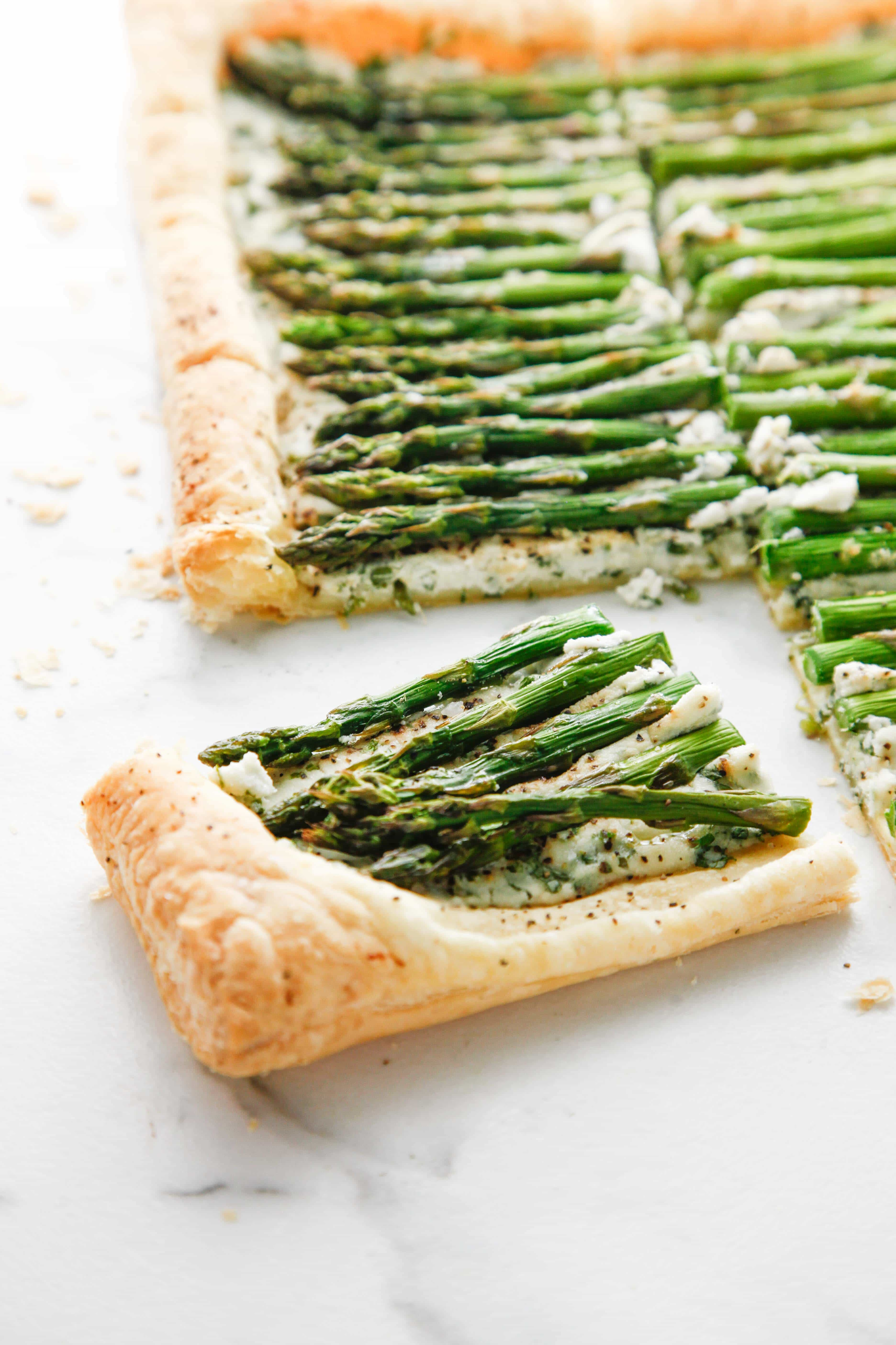 Creamy Herbed Ricotta and Asparagus Puff Pastry Tart - The Brooklyn ...
