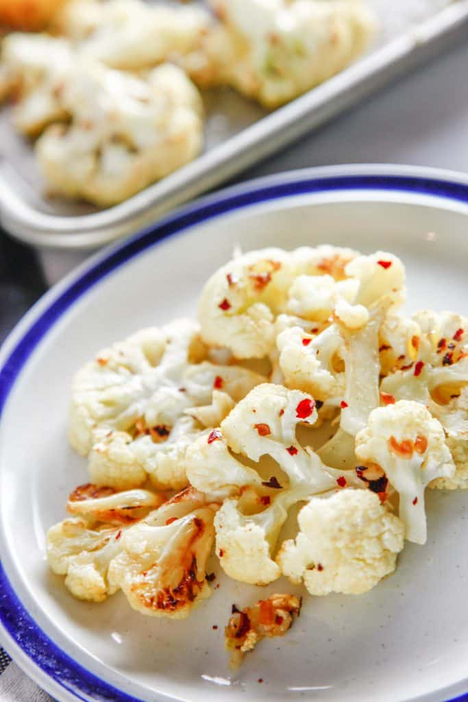 Spicy Roasted Garlic Cauliflower