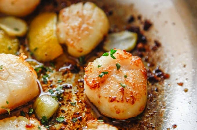 Lemon Garlic Seared Scallops
