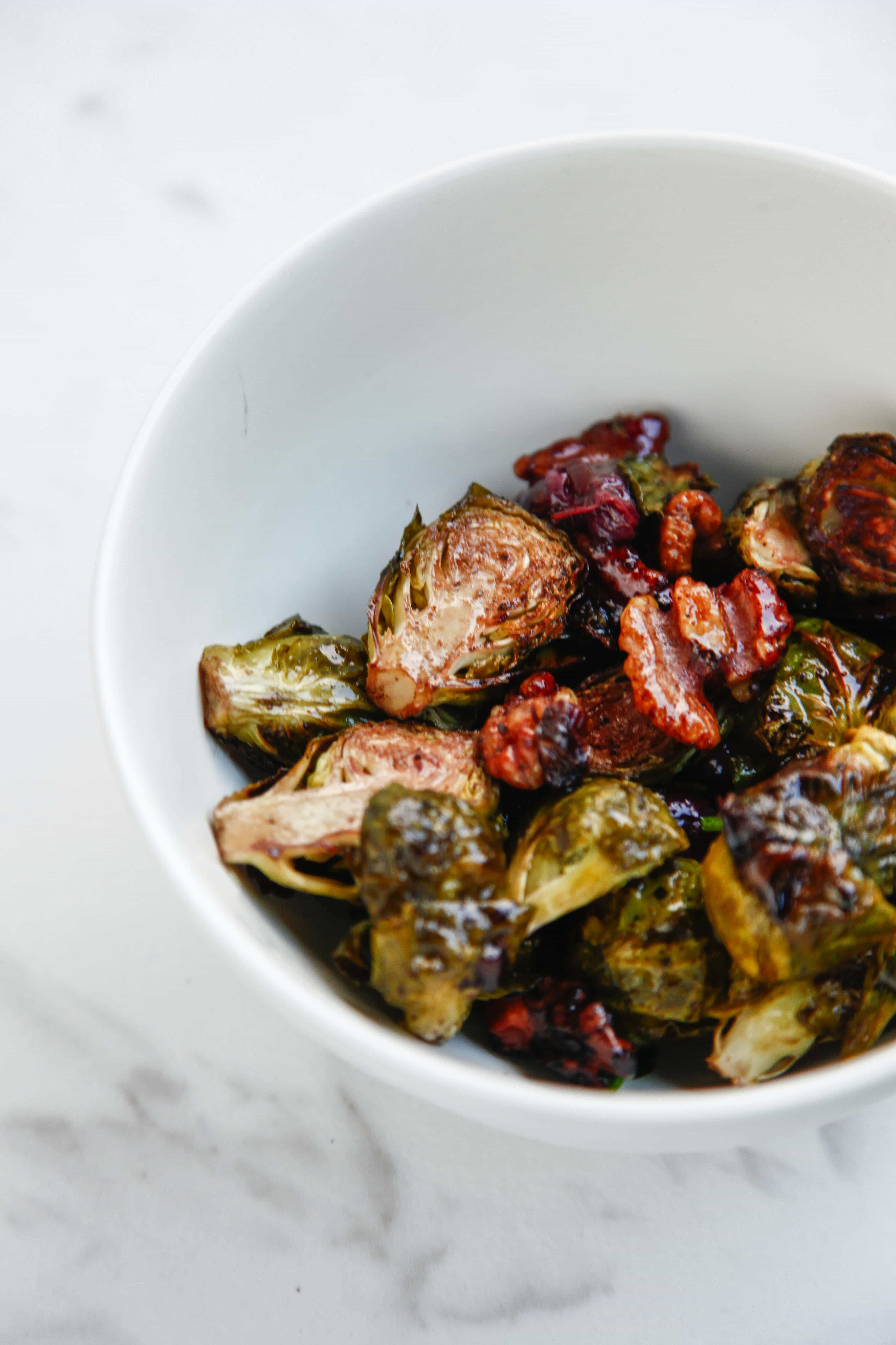Roasted Balsamic Walnut Grape Brussels Sprouts - The ...