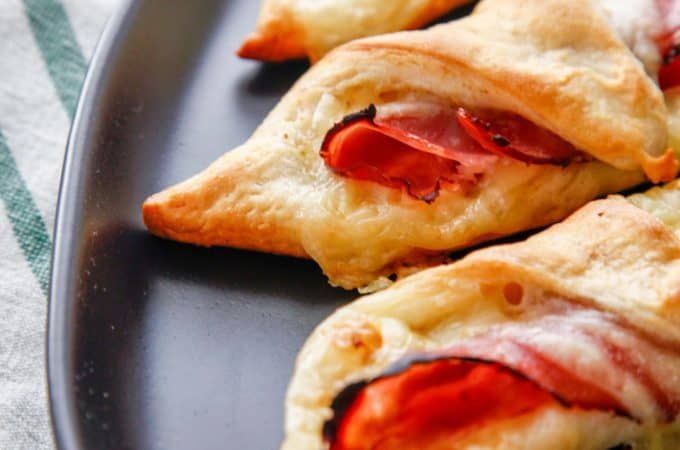 Leftover Christmas Ham and Cheese Crescent Rolls