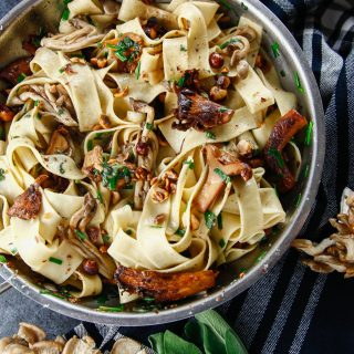 Mushroom Hazelnut Pappardelle